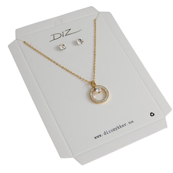 Bilde av Box 16 smykkesett gullfarget