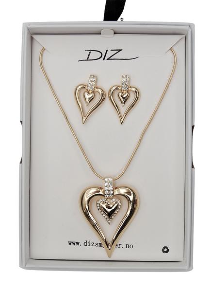 Bilde av Box 1728-G smykkesett hjerte